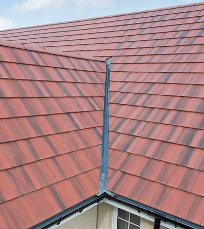 red tiled modern roof replacement